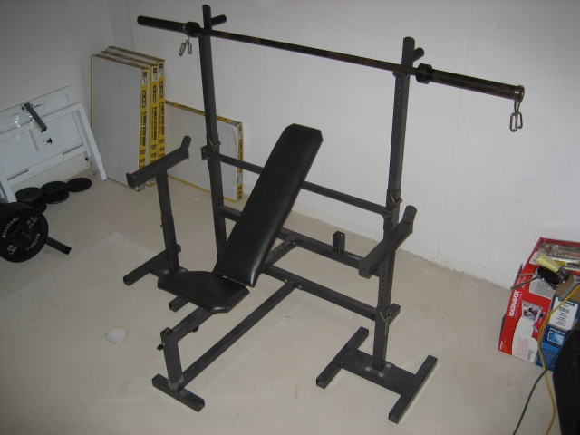 Ordinary Safety Stands For Bench Press Part - 12: Incline Bench Set Up With Adjustable Safety Stands